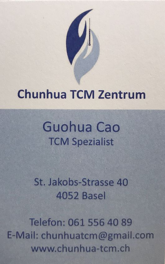 Business card - Chunhua TCM Center